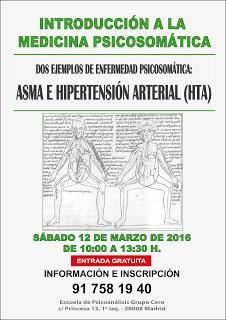 CARTEL PSICOSOMÁTICA. Dra Pilar Rojas psicoanalista en Madrid